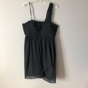 NWT BCBGeneration One Shoulder Black Dress, Size 8